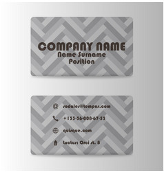 business card in individual style vector image