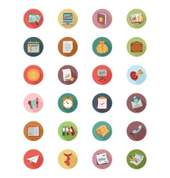 Business Flat Colored Icons 1 vector image vector image