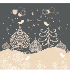 Cartoon Christmas background vector image