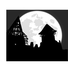 castle ruins vector image