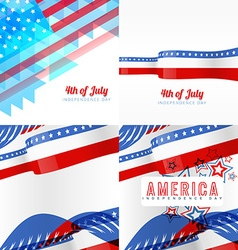Creative set of american independence day vector