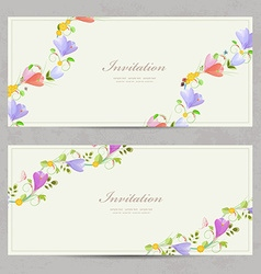 cute collection invitation cards with crocus for vector image vector image