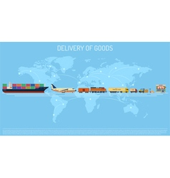 Delivery of goods concept vector