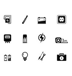 Electrical equipment set vector