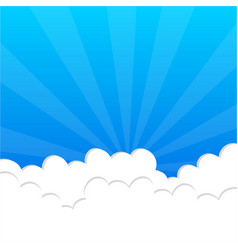 fluffy clouds in blue sky vector image vector image