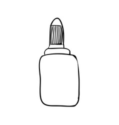 glue bottle draw vector image vector image