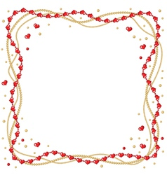 heart beads vector image