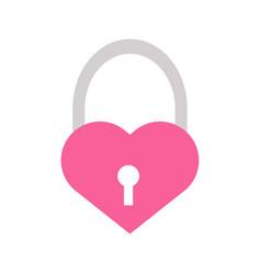 love heart padlock graphicl vector image