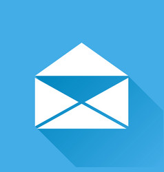 Mail envelope icon isolated on blue background vector