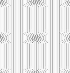 Perforated paper with ties on continues lines vector