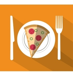 Pizza of fast food concept vector