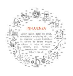 Prevention of influenza round banner vector