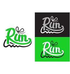 running shoe symbols on different background vector image