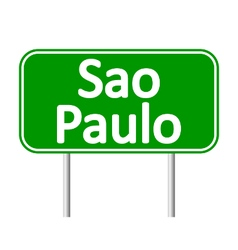Sao paulo road sign vector
