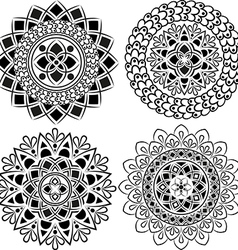 Set of beautiful ornamental mandalas vector image