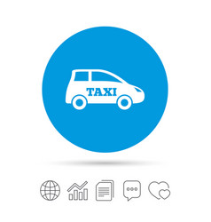 Taxi car sign icon hatchback symbol vector