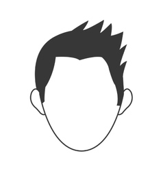 Faceless head of man icon vector