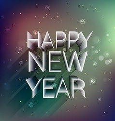 Happy new year in 3d vector