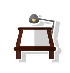 Lamp table and paper object design vector