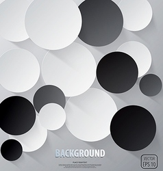 Cut circle background vector