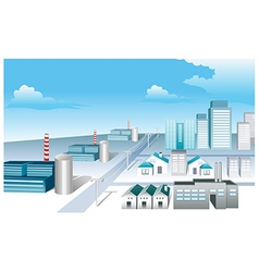 Industrial area vector