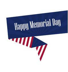 Memorial day american flag ribbon polygonal vector