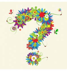 Question mark floral design vector
