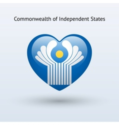 Love commonwealth of independent states symbol vector