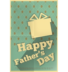 Fathers day poster box vector