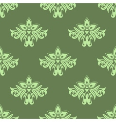Light green floral seamless pattern vector