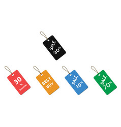 5 price tags color vector image