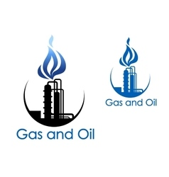 Gas and oil industry symbol vector