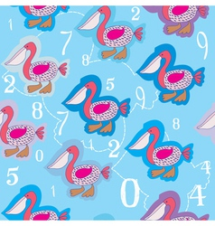 Bird pattern vector
