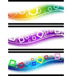 three halftone design elements vector image