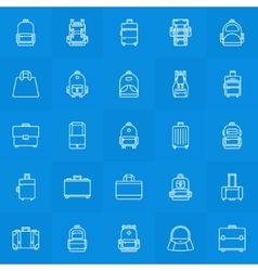 Backpack suitcase handbag icons vector