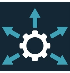 Gear distribution icon vector