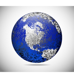 Abstract american globe vector
