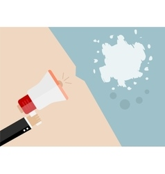 Abstract blot megaphone icon flat design vector