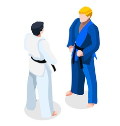 Judo fight 2016 sports 3d isometric vector