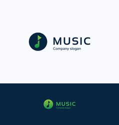 Music note play logo vector image