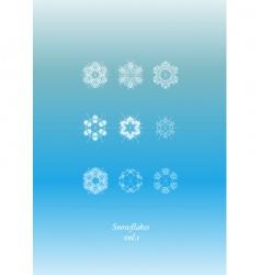Snowflakes icon set vector