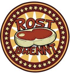 Badge beef vector image