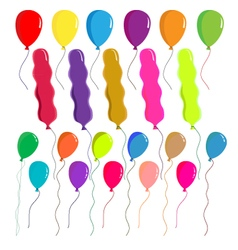 Balloons set on white background vector image