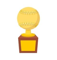 Baseball trophy cartoon icon vector