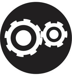 Black cogs vector