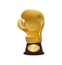 boxing trophy championship vector image