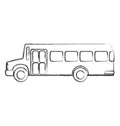 Bus transport isolated icon vector