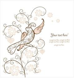 Card with bird vector