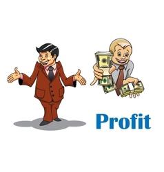 Cartoon businessman and financial expert vector