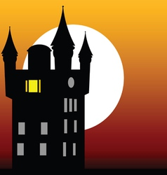 castle at dusk vector image vector image